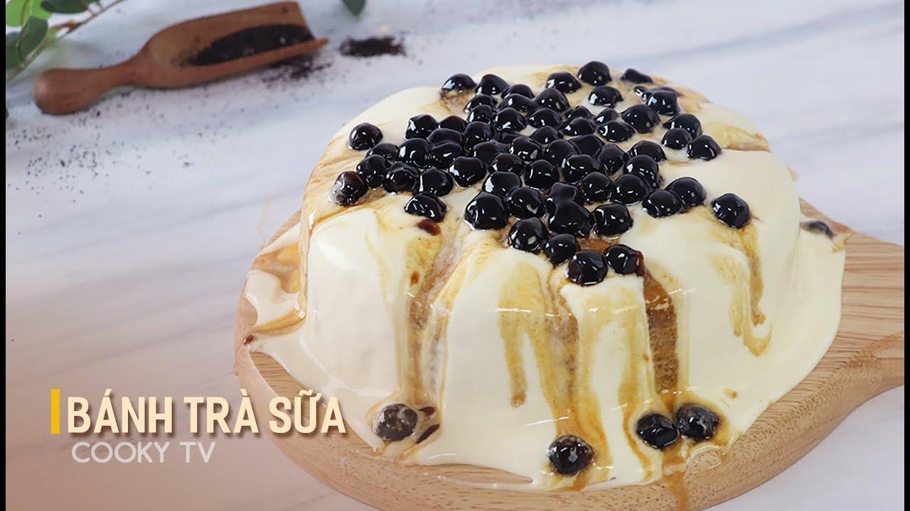 Cách Làm Bánh Trà Sữa Trân Châu Đường Đen Siêu Hot – Boba Milk Tea Cake – Cooky TV