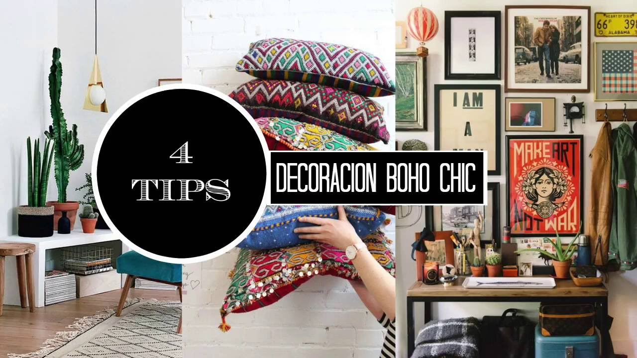 TIPS PARA LOGRAR UNA DECORACION BOHO CHIC YouTube