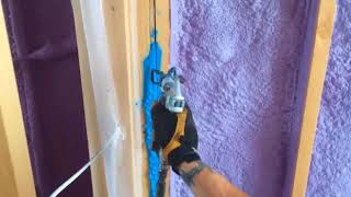 Game Changer! Air sealing with spray-on caulking