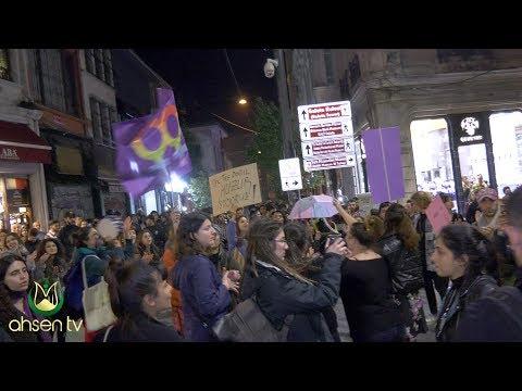 Taksimde Dünya Kadınlar Günü Yürüyüşüne Biber Gazlı Müdahale