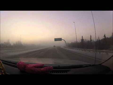 Alaska Ice Fog Driving