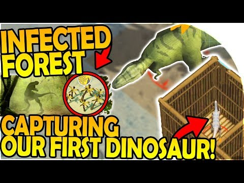 INFECTED FOREST + CAPTURING our FIRST DINOSAUR - Last Day on Earth Jurassic Survival Gameplay