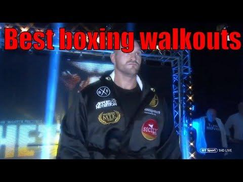 BEST BOXING/UFC WALKOUTS