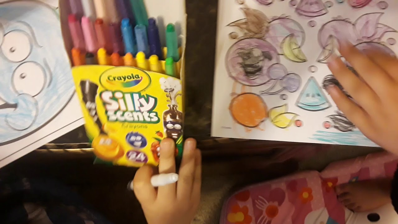 Opening And Coloring Pages From Silly Scents Youtube