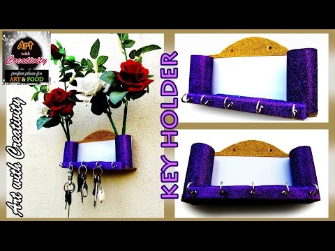 Key Holder | best out of waste | Art with Creativity 110