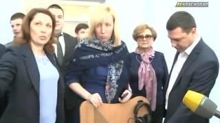 В новой школе в Краснодаре открыли стадион и сделали игровые зоны для учеников