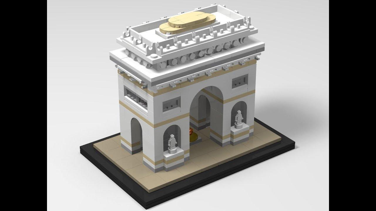 lego architecture set 21036 arc de triomphe building. Black Bedroom Furniture Sets. Home Design Ideas