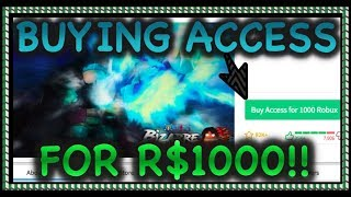 BUYING ACCESS FOR 1000 ROBUX!! | NEW UPDATE?!!| One Piece Bizarre Adventures | ROBLOX