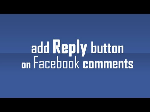 Add Reply Button To Comments On Facebook Page