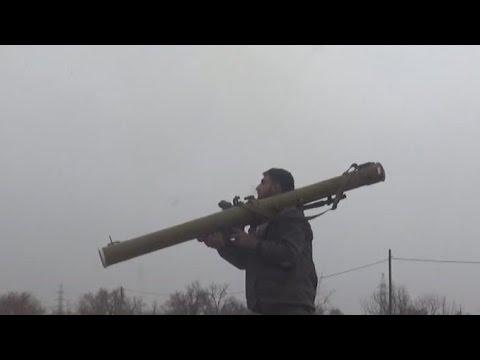 """Syrian rebels using RPG-29 """"Vampire"""" against the tank in ...  Syrian rebels u..."""