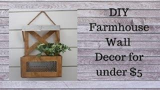 Diy Farmhouse Wall Decor For Under $5