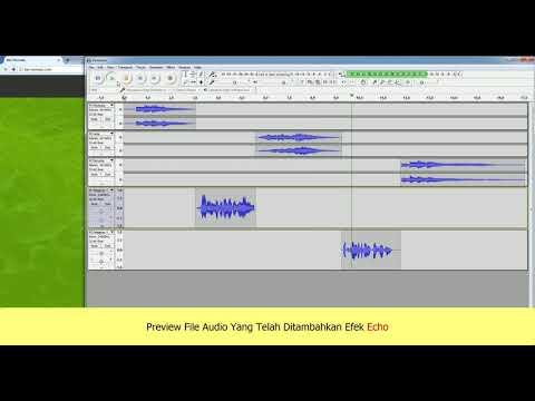 Cara Menambahkan Efek Echo Pada Audio Dengan Audacity