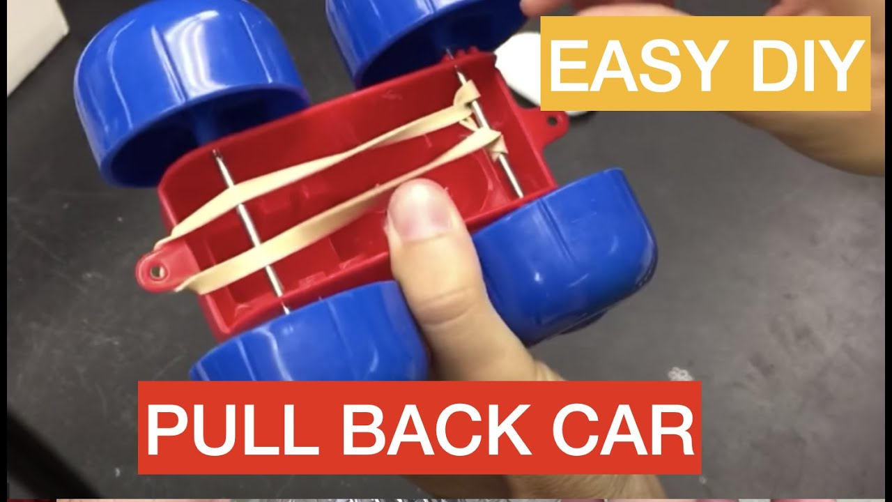 How To Make A Simple Pull Back Toy Car Youtube