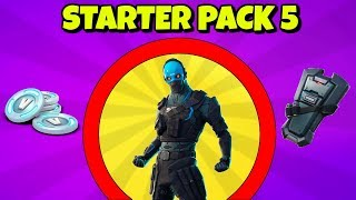 NEW STARTER PACK 5 SKIN 'COBALT' IN-GAME FORTNITE
