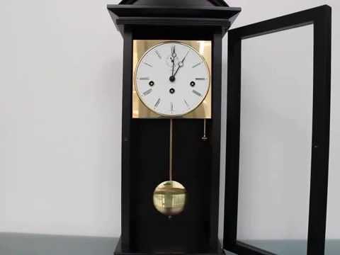 Kieninger Wall Clock 3 Melodies Black Wood Germany