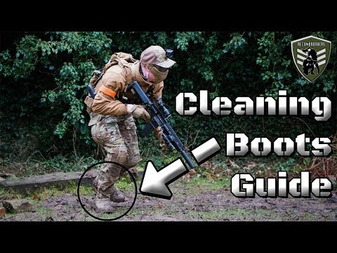 How to Clean Tactical or Hiking Boots for Military & Airsoft