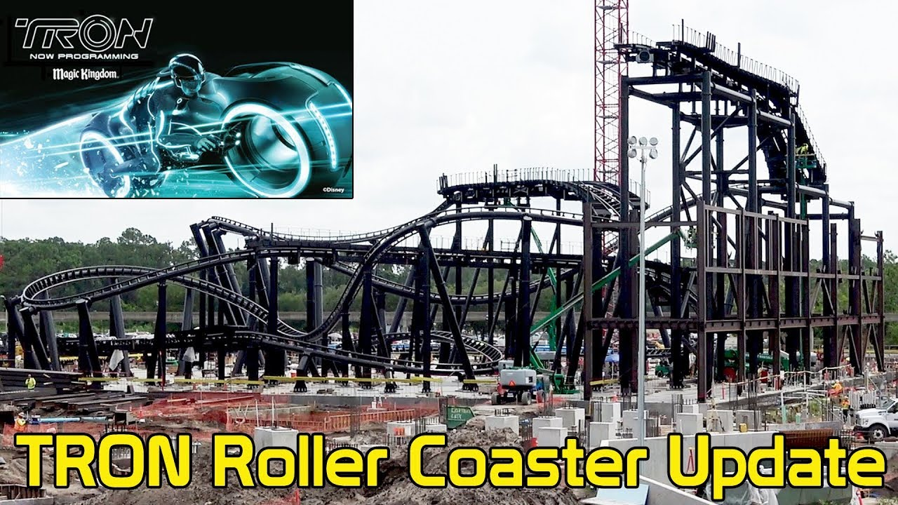 TRON Roller Coaster Construction Update at Magic Kingdom, July 2019 - 2  Angles, Disney World