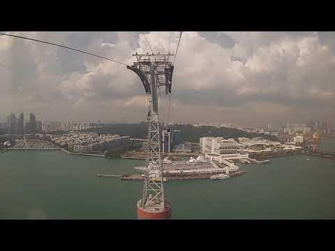 Sentosa Island, Singapore - Singapore Cable Car POV (2018)