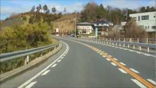 20130303 国道53号鳥取方面→国道9号倉吉→国道179号奥津温泉【6倍速】