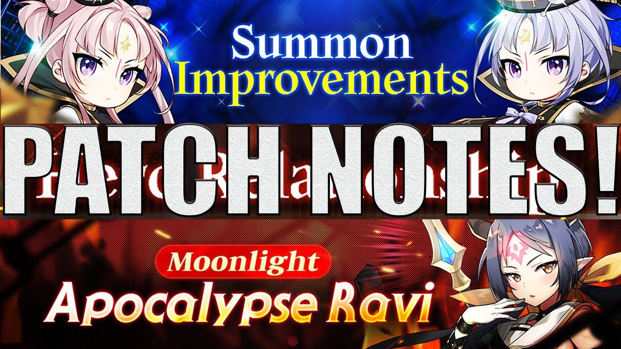 Live)Patch Notes- REFUND TIME! Summon System Improvements/BUFFS/Apoc