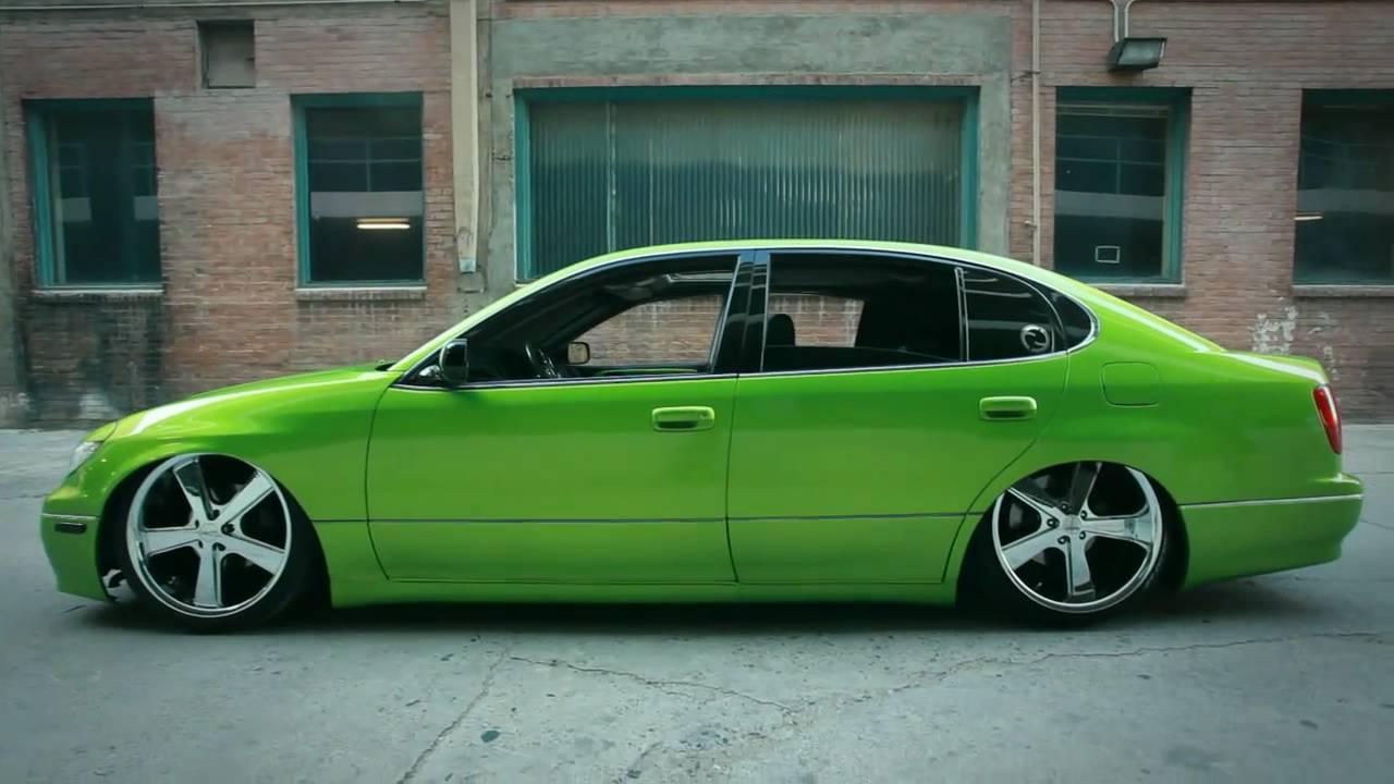 lexus gs300 custom viper green - youtube