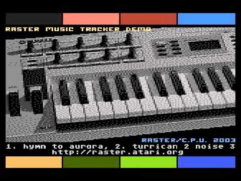 raster music tracker demo for Atari 8-bit