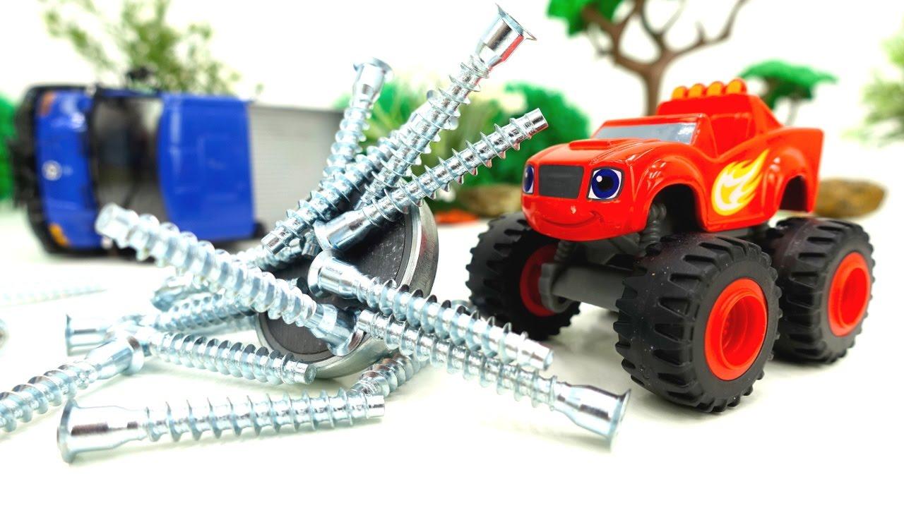 Вспыш и чудо-машинки: Магнит и гвозди! Видео для мальчиков ...