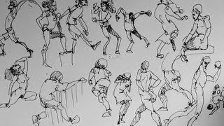 How to sketch & draw people Part 2 | Gesture Drawing