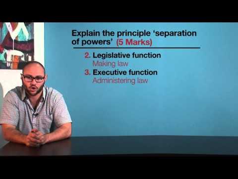 VCE Legal Studies - Separation of powers
