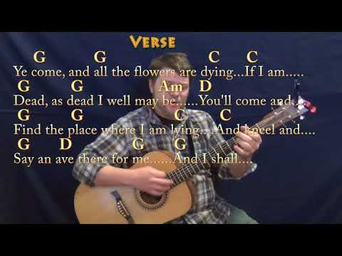 Danny Boy (Traditional) Strum Guitar Cover Lesson in G with Chords/Lyrics