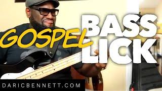 Quick Gospel Bass Lick - F Minor Triad ~ Daric Bennett's Bass Lessons