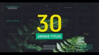 30 Corporate Titles - After Effects Template