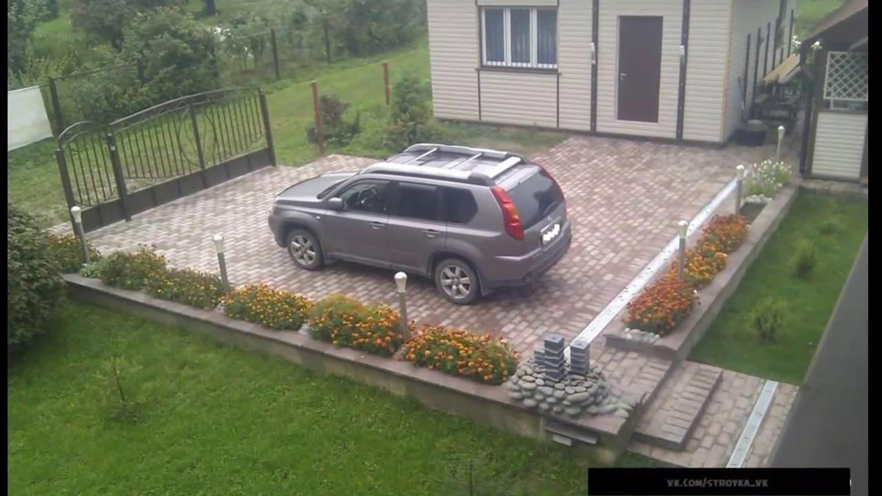 Стоянка для машины на даче из бетона своими руками фото 407