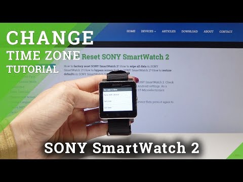 How To Set Date & Time On Sony SmartWatch 2 - Change Time Settings