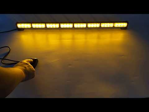 """35"""" 32 LED Traffic Advisor Directional Flash Emergency Strobe Light Bar"""