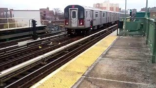 MTA IRT Bronx Express 5 Train Air-horns Its Way Through Simpson Street, Bronx