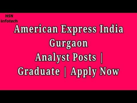American Express- Gurgaon- Analyst Posts
