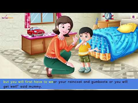 A Rainy Day   Junior KG Stories For Kids   Periwinkle