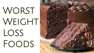 4 Worst Foods For Weight Loss | Foods to Avoid To Lose Weight Fast