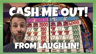 CASH ME OUT from LAUGHLIN! 5 Slot machines at Aquarius Casino!