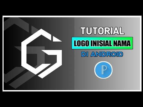 Membuat logo initial tiga huruf || monogram logo || pixelab tutorial.