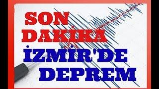 İzmir'de Son Dakika Deprem Şiddetinde Deprem Anı Yine Sallanıyoruz