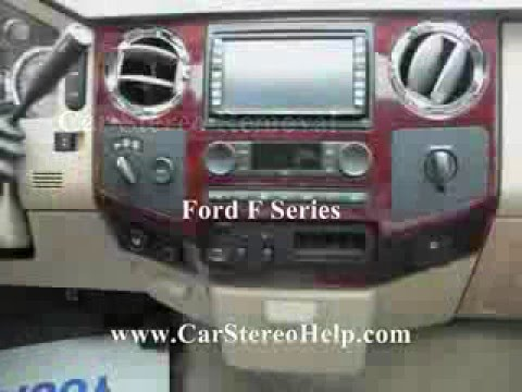 2016 Ford F350 >> Ford F Series Pick Up Stereo Removal - YouTube