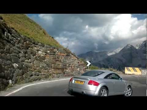 Stelvio Pass SS38 downhill run. Porsche 996 Targa. Amazing v