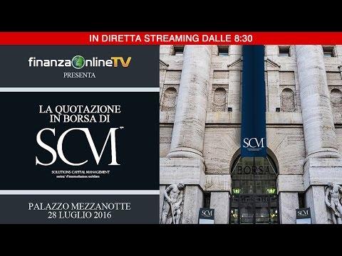 SCM Sim: diretta streaming della quotazione su AIM Italia