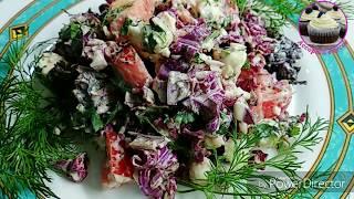 Изумительный салат из пекинской капусты с фетой. Ореховый вкус без орехов.