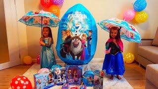 Гигантское ЯЙЦО ХОЛОДНОЕ СЕРДЦЕ с Игрушками  на День Рождения ДЛЯ ДЕТЕЙ / Magic Twins