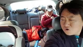 2018 인제 빙어축제 가는길에서 노래하는 혜원엄마
