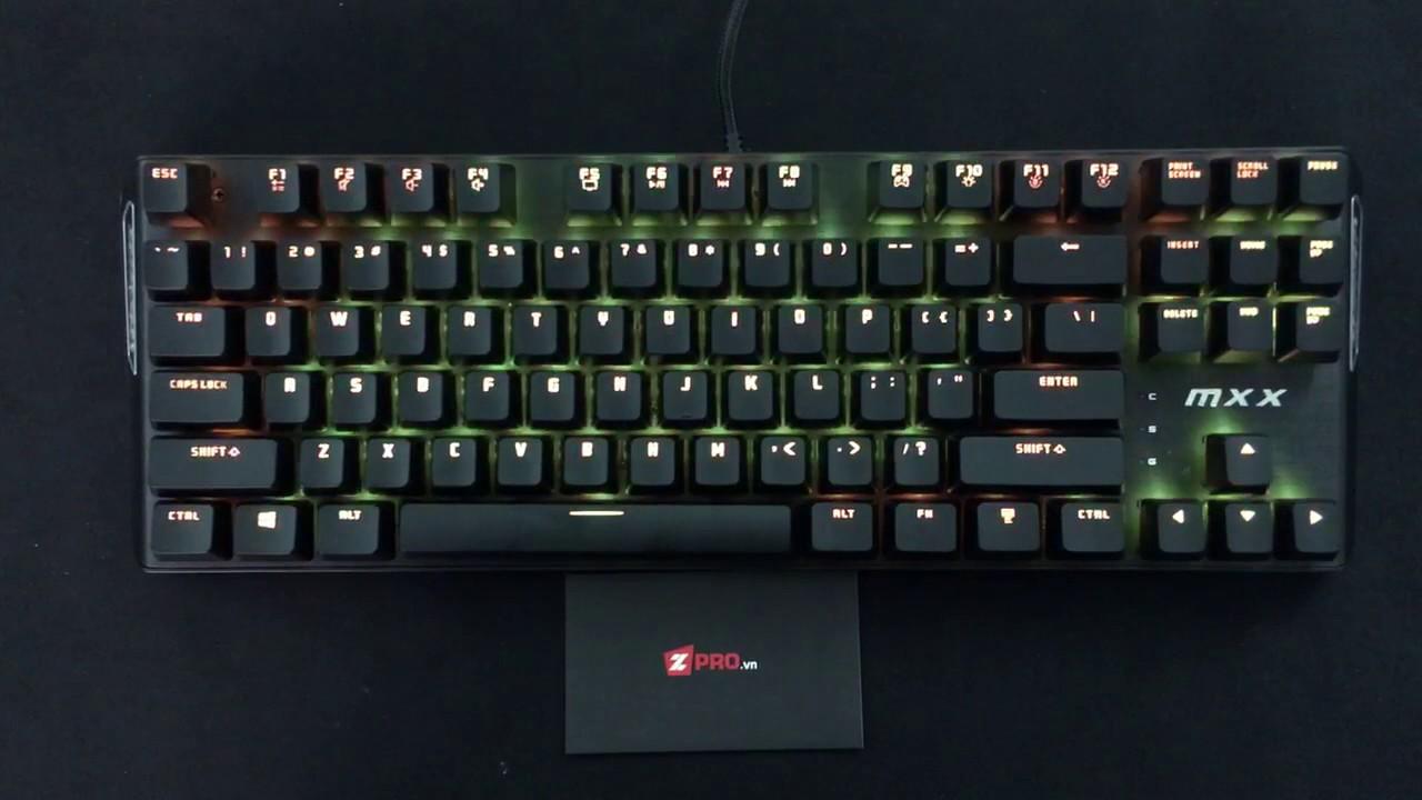ZPRO.VN – Test Led Bàn phím cơ Rantopad MXX RGB