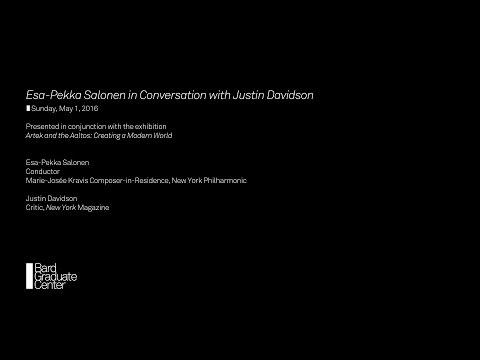 Esa-Pekka Salonen in Conversation with Justin Davidson